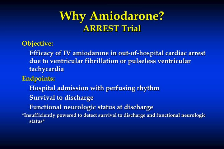 Why Amiodarone?