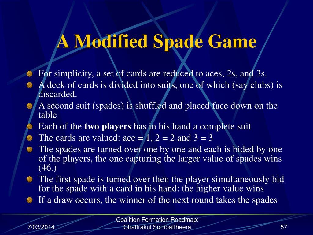 A Modified Spade Game