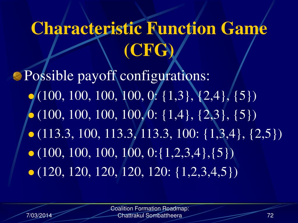 Characteristic Function Game (CFG)