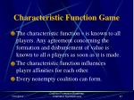 characteristic function game66