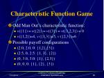 characteristic function game68