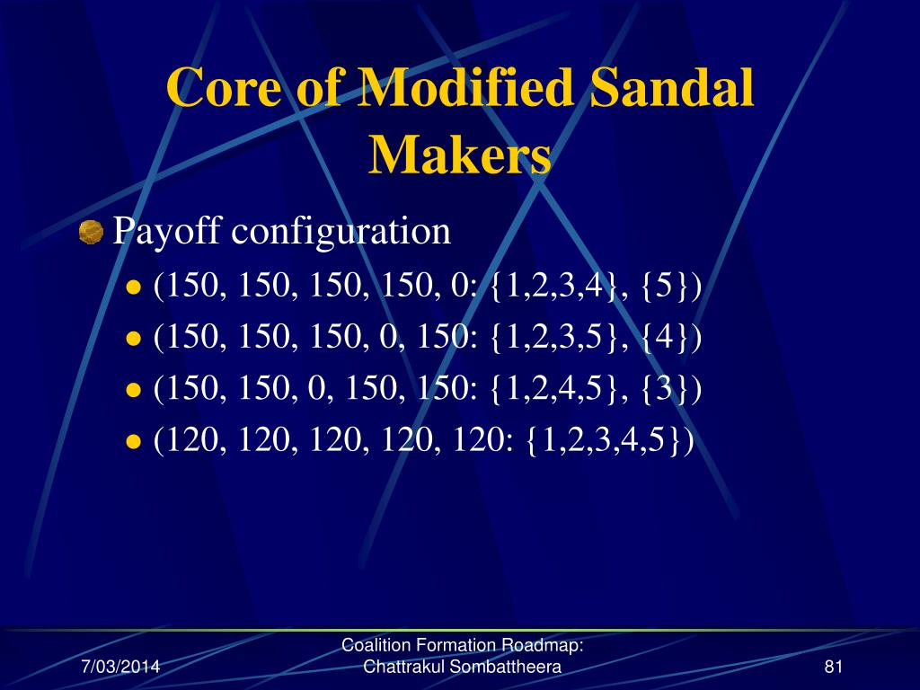 Core of Modified Sandal Makers