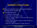 extensive form game