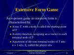 extensive form game52