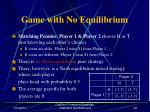 game with no equilibrium