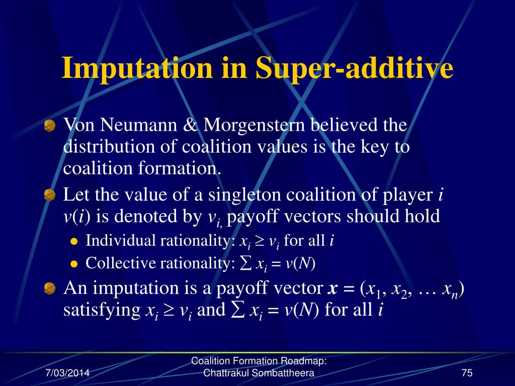 Imputation in Super-additive