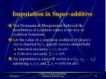 imputation in super additive