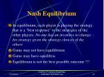 nash equilibrium46