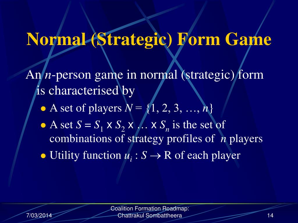 Normal (Strategic) Form Game