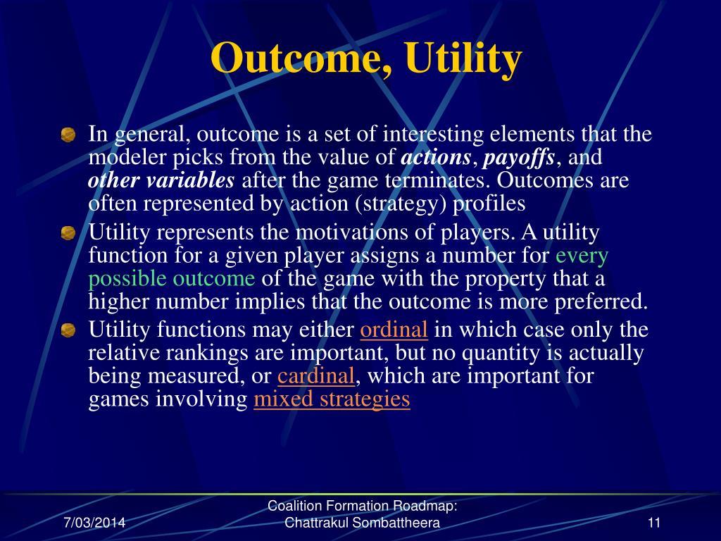 Outcome, Utility