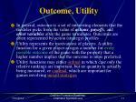 outcome utility