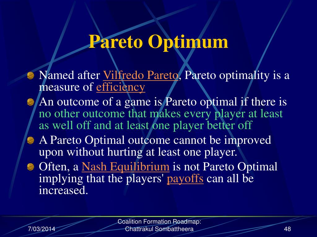 Pareto Optimum