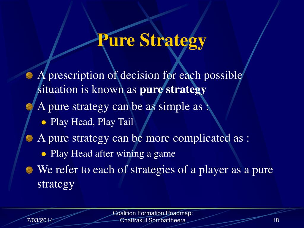 Pure Strategy