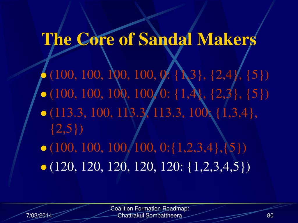 The Core of Sandal Makers