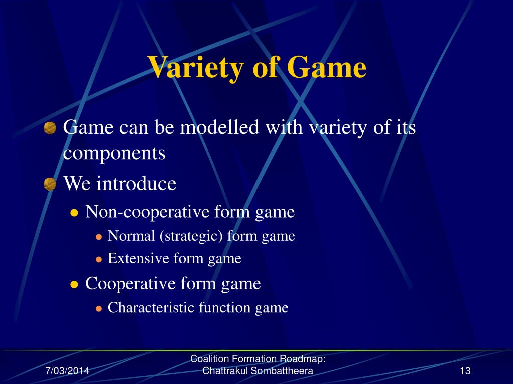 Variety of Game