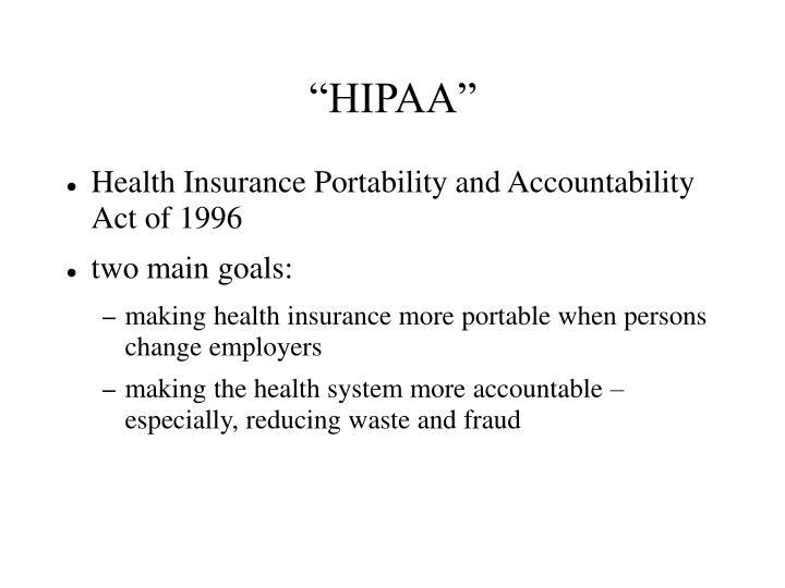 """""""HIPAA"""""""
