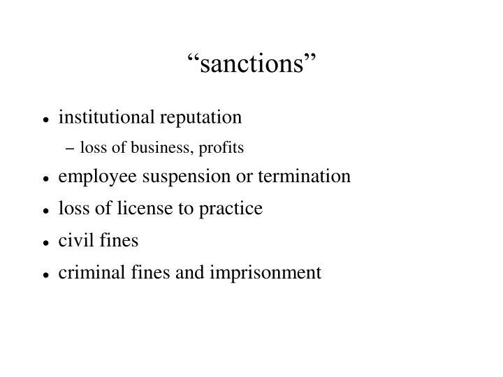 """""""sanctions"""""""