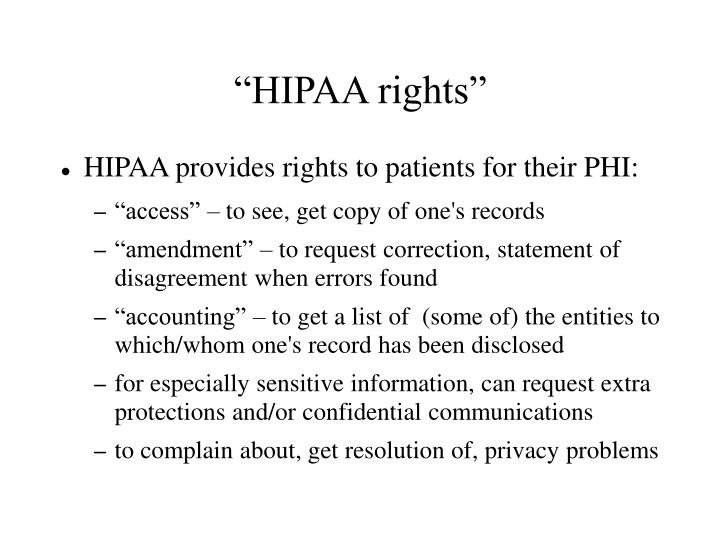 """HIPAA rights"""