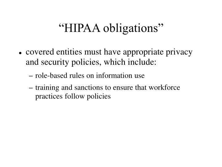 """HIPAA obligations"""