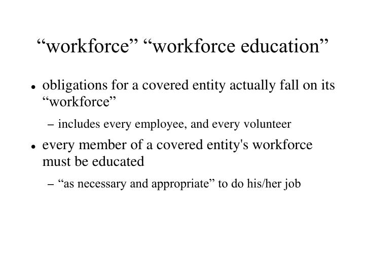"""workforce"" ""workforce education"""