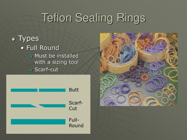 Teflon Sealing Rings