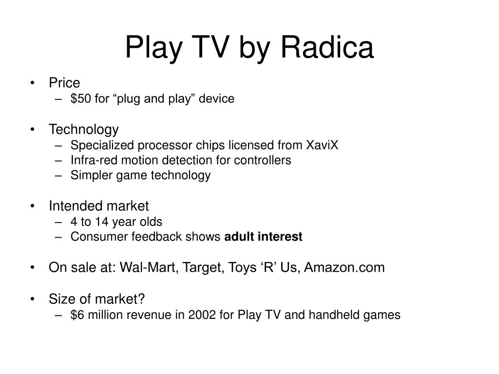 Play TV by Radica