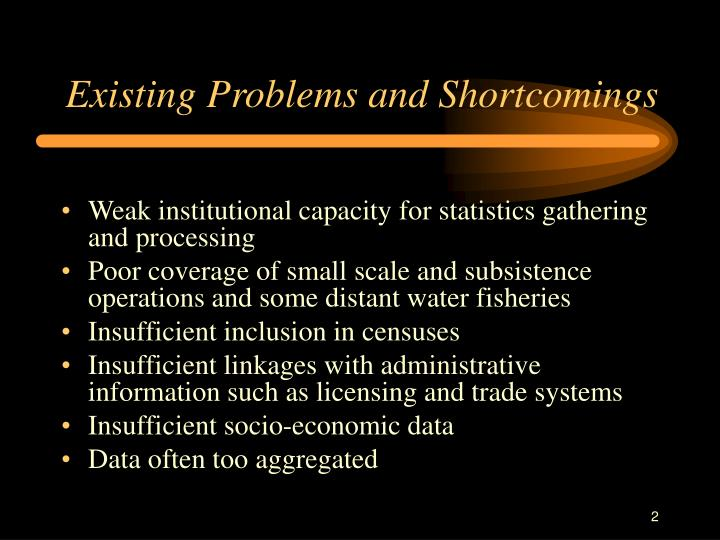 Existing Problems and Shortcomings