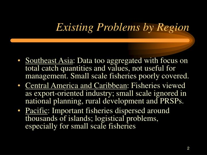 Existing Problems by Region