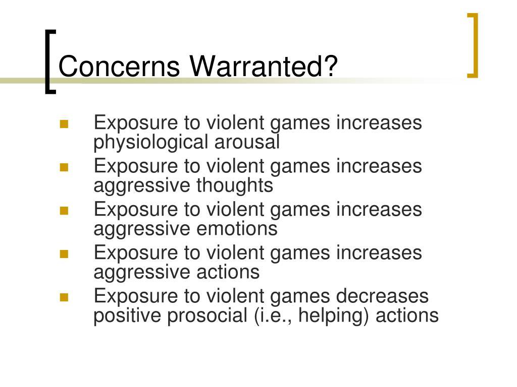 Concerns Warranted?