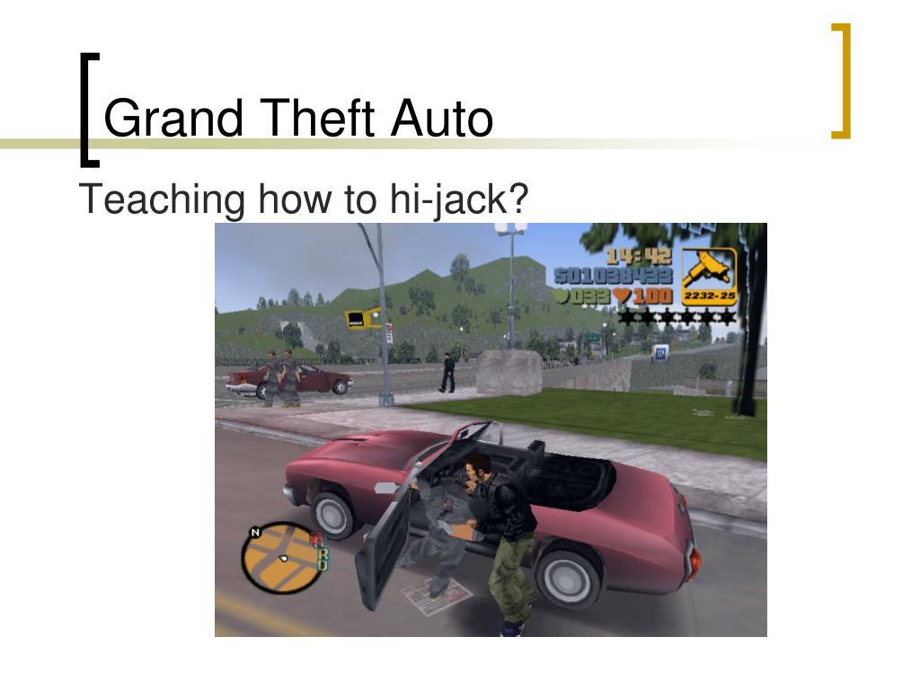 Teaching how to hi-jack?