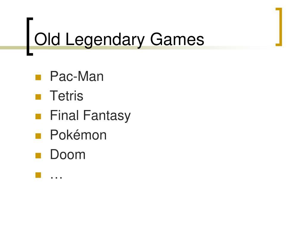 Old Legendary Games