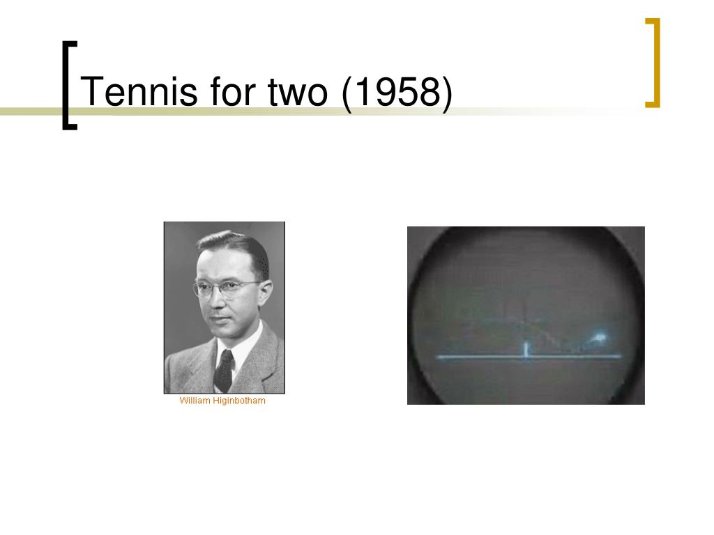 Tennis for two (1958)