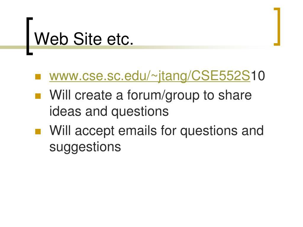 Web Site etc.