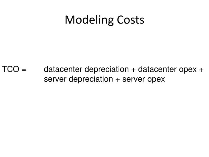Modeling Costs