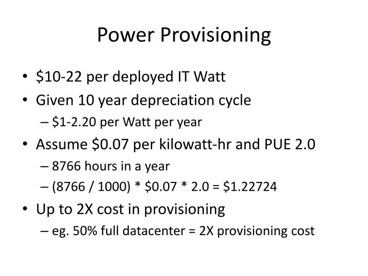 Power provisioning