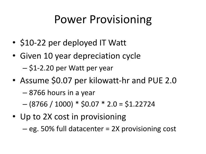 Power Provisioning