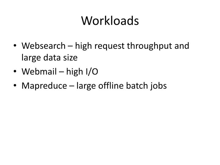 Workloads