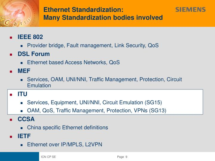 Ethernet Standardization: