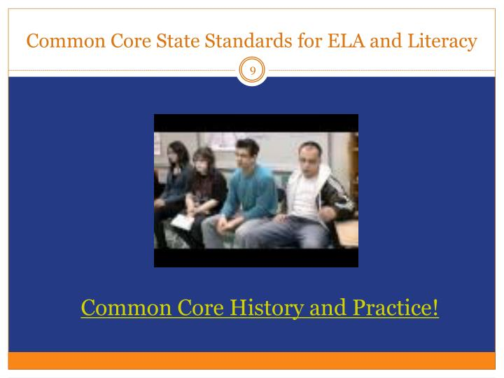 Common Core State Standards for ELA and Literacy