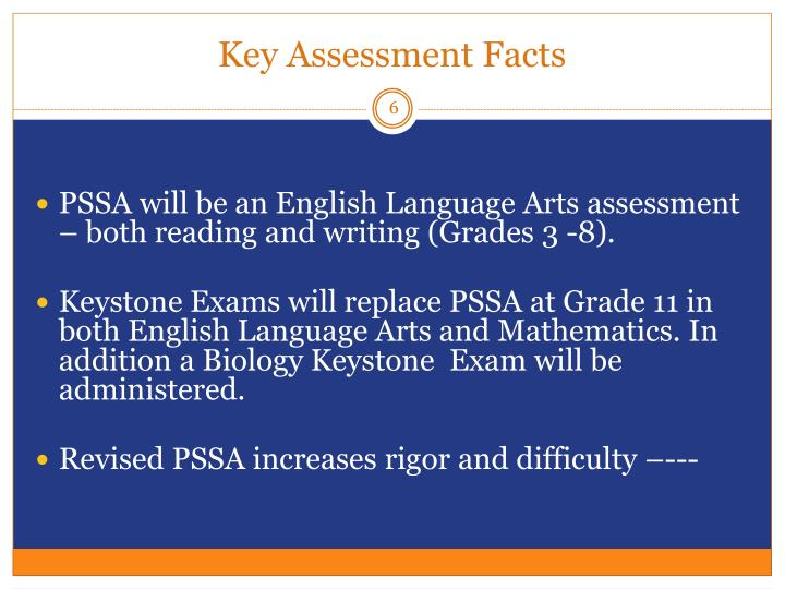 Key Assessment Facts