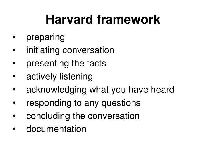Harvard framework