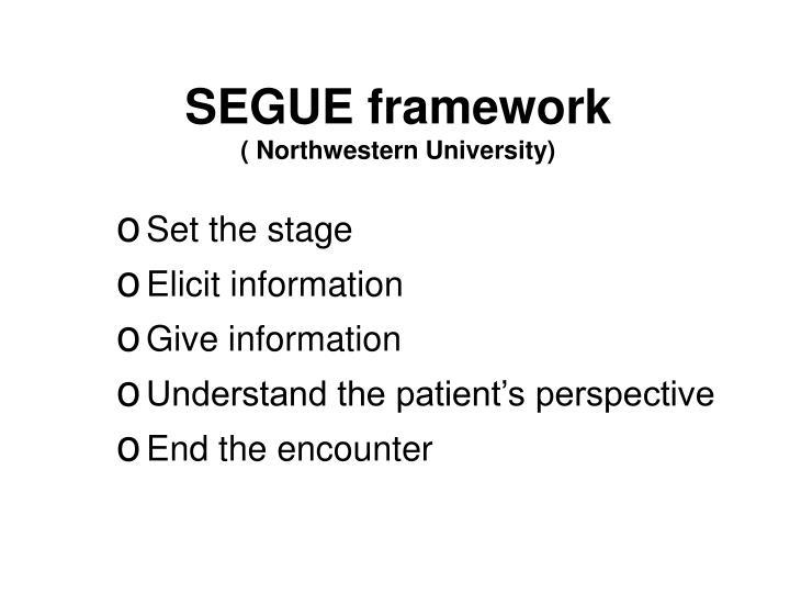 SEGUE framework