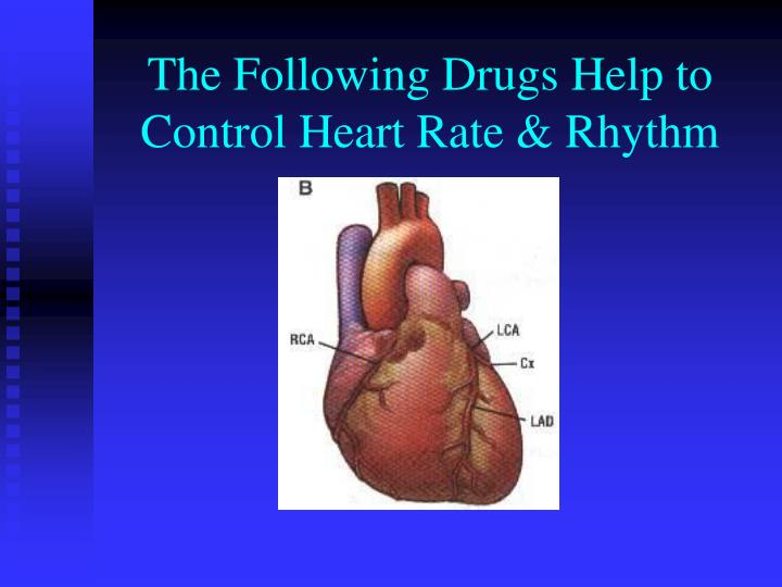 The Following Drugs Help to Control Heart Rate & Rhythm