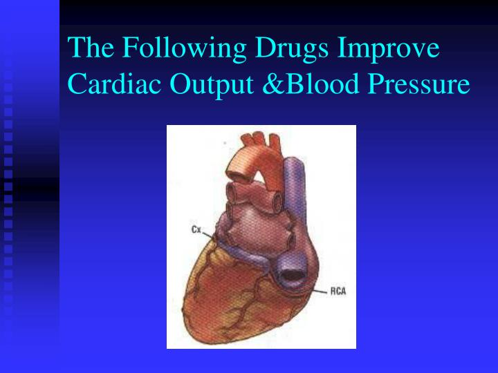The Following Drugs Improve Cardiac Output &Blood Pressure