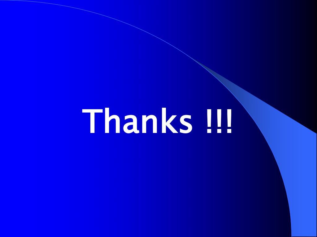 Thanks !!!