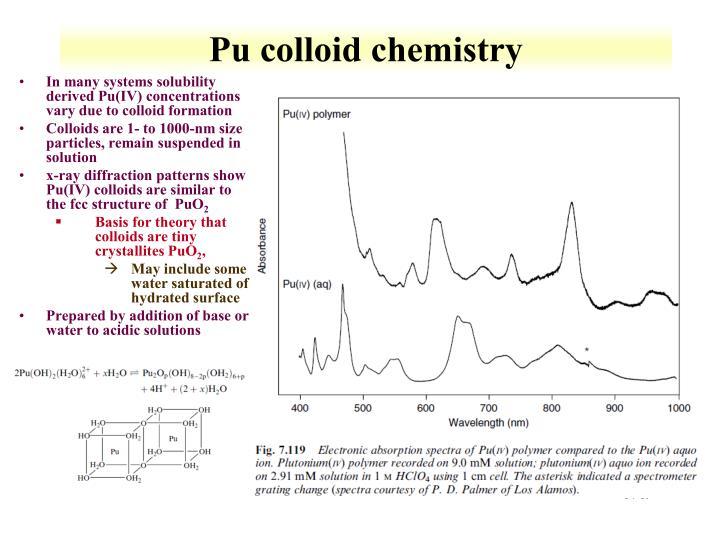 Pu colloid chemistry