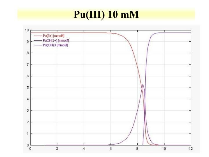 Pu(III) 10 mM