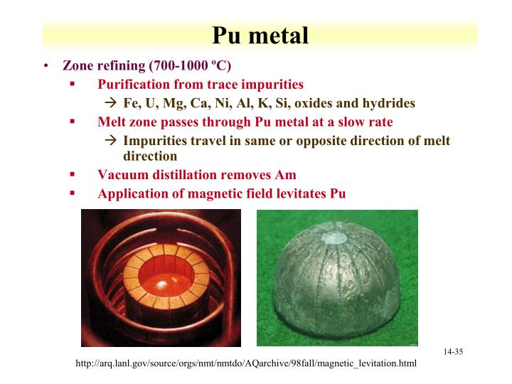 Pu metal
