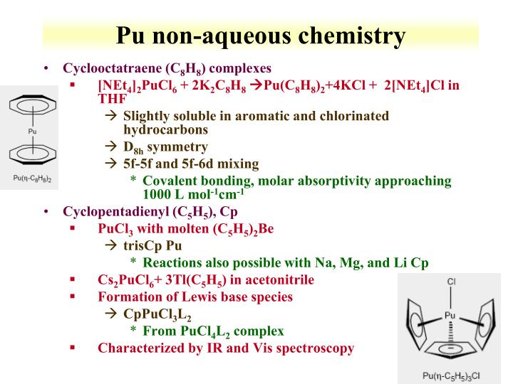 Pu non-aqueous chemistry