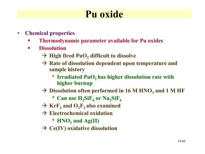 Pu oxide